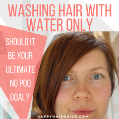 WASHING HAIR WITH WATER ONLY